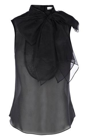 Karen Millen - Organza blouse with bow. Beautiful shirt!