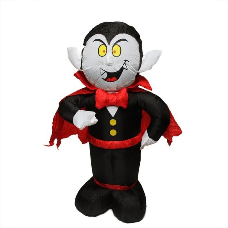 BZB 4' Inflatable Spooky Count Dracula Lighted Halloween Yard Art Decoration 31739608