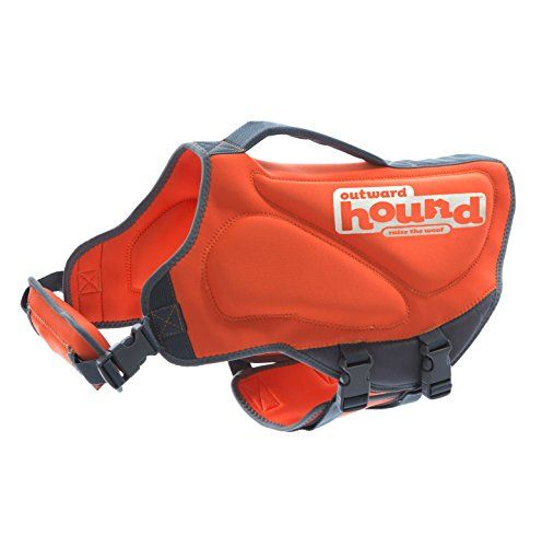 I just bought this and love it. Outward Hound Kyjen  22024 Neoprene Dog Life Jacket, Small, Orange . you can see what others said about it here http://bridgerguide.com/outward-hound-kyjen-22024-neoprene-dog-life-jacket-small-orange/