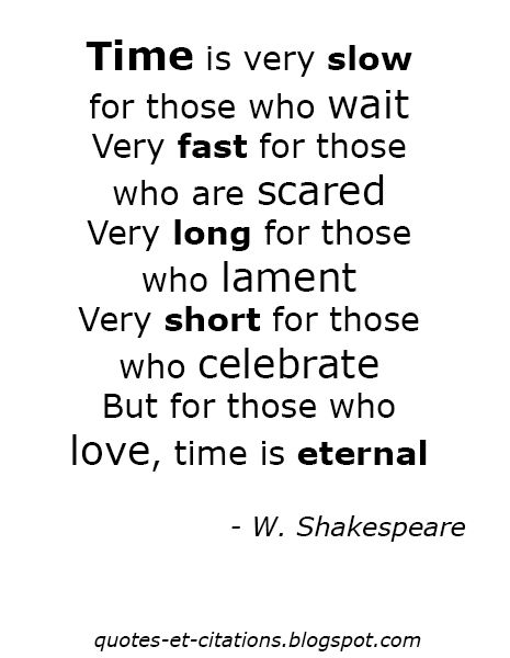 Quotes Et Citations: W. Shakespeare #Citations, #Quotes, #Time, #Love