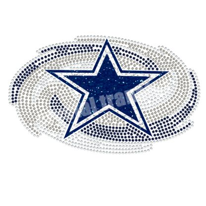 Football Sports Fashion Rhinestone Iron Ons Transfers