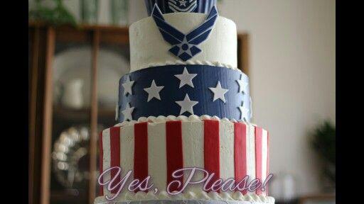 US Air Force retirement cake for minion lover! #airforce #usa #cake #starsandstripes #retirement