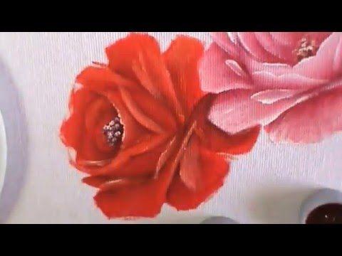 """Dicas de pintura grátis - Série """"Como pintar rosas"""" - Rosa vermelha - Au..."""