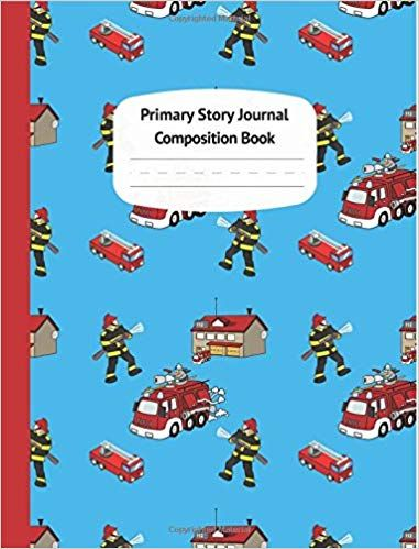 Firetrucks Primary Story Journal Composition Book Grade Level K 2