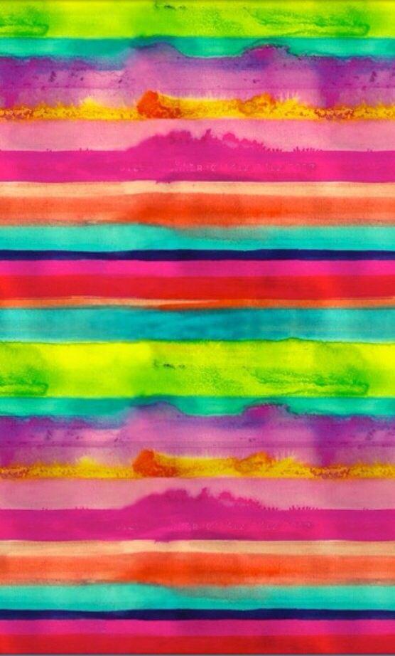 Rayado en acuarela multicolor.