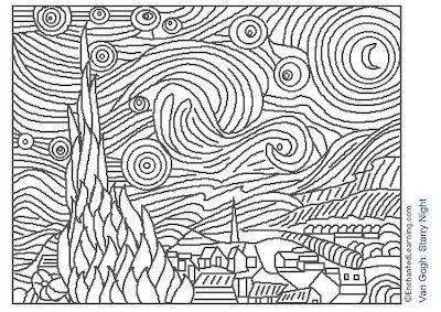 RECURSOS EDUCACION INFANTIL: Noche estrellada - Van Gogh