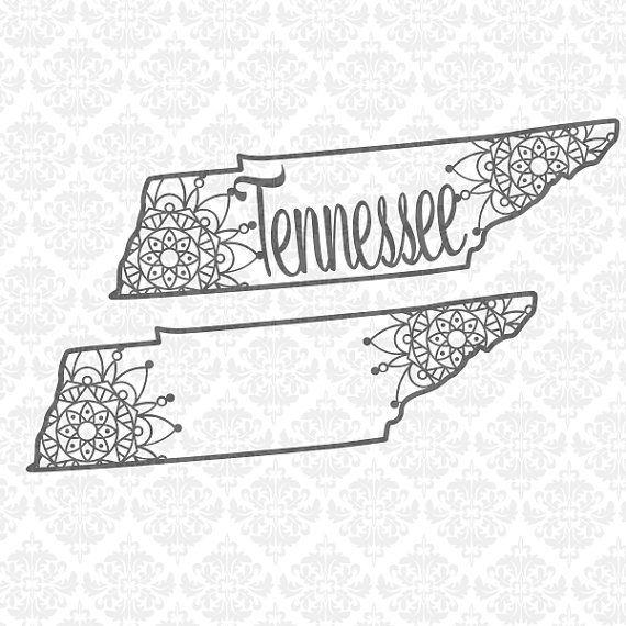 Bundle Tennessee Mandala Filigree Henna by CraftyLittleNodes