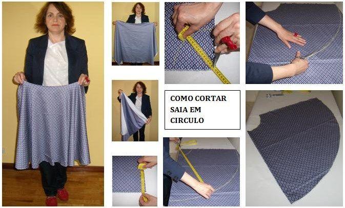 PASSO A PASSO COMO CORTAR SAIA GODÉ ~ Moldes Moda por Medida - Muito bom!!