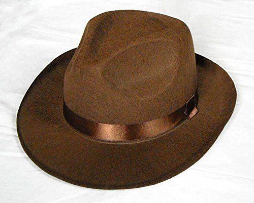 Brown Fedora Hat ADULT or CHILD Costume Indiana Jones Freddy Kreuger Men or Boy (Adult) @ niftywarehouse.com