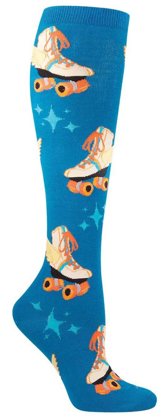 Retro Roller Skate Knee High Socks from The Sock Drawer