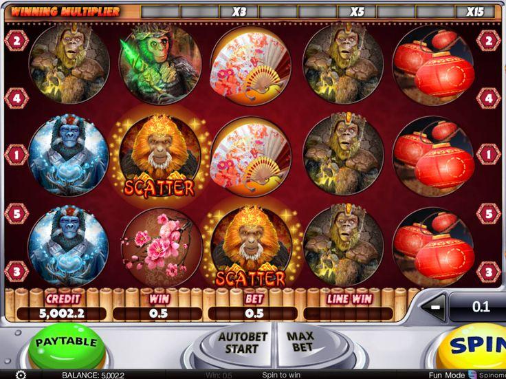 Lasst uns drehen kostenlos Spielautomaten Spiel Year of the Monkey - http://freeslots77.com/de/year-of-the-monkey/