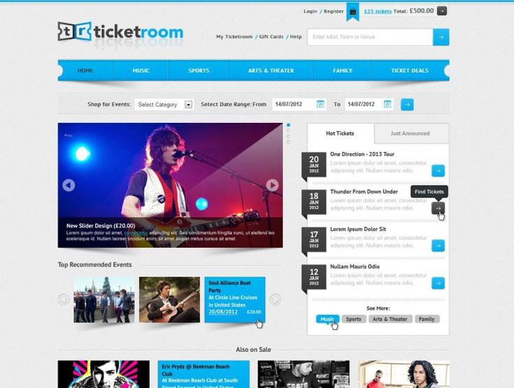 Ticket Room Web Design