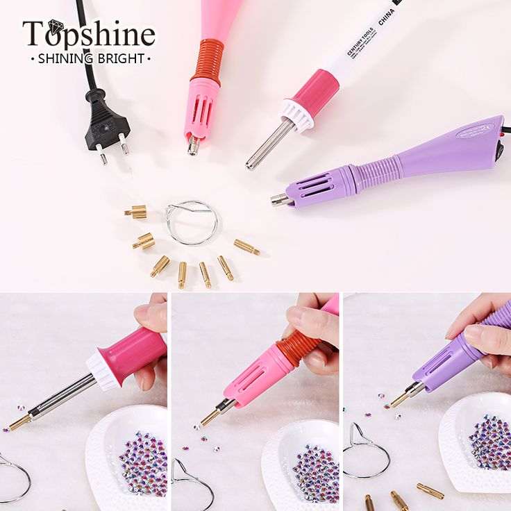 Factory Price Rapid Heat ! 1pc/lot Pink Hot fix Applicator Wand Gun For Hotfix Rhinestones Iron On Crystals-in Rhinestones from Home & Garden on Aliexpress.com | Alibaba Group