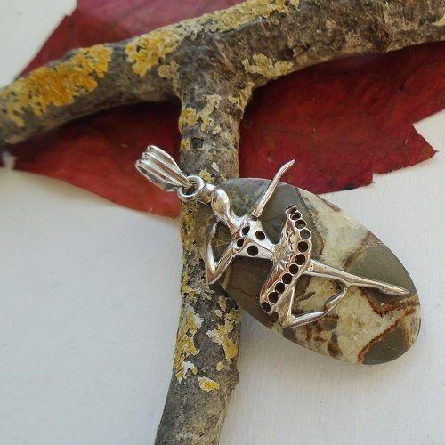 Jaspis Fossil, Ballett, Tänzerin, Anhänger, 925 Sterling Silber in Uhren & Schmuck, Echtschmuck, Halsketten & Anhänger | eBay!