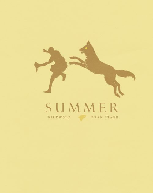Summer ~ House Stark ~ Minimalist Poster by Son of Wolves ~ Game of Thrones Fan Art