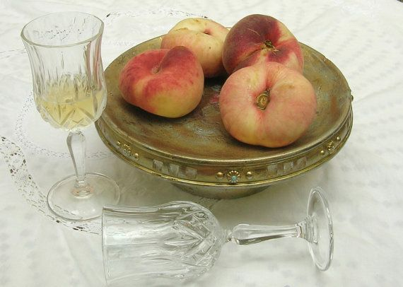 Painted vintage wooden fruits bowl. by Syell on Etsy