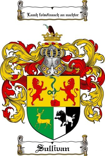 Sullivan Coat of Arms Sullivan Family Crest Instant Download - for sale, $7.99 at Scubbly