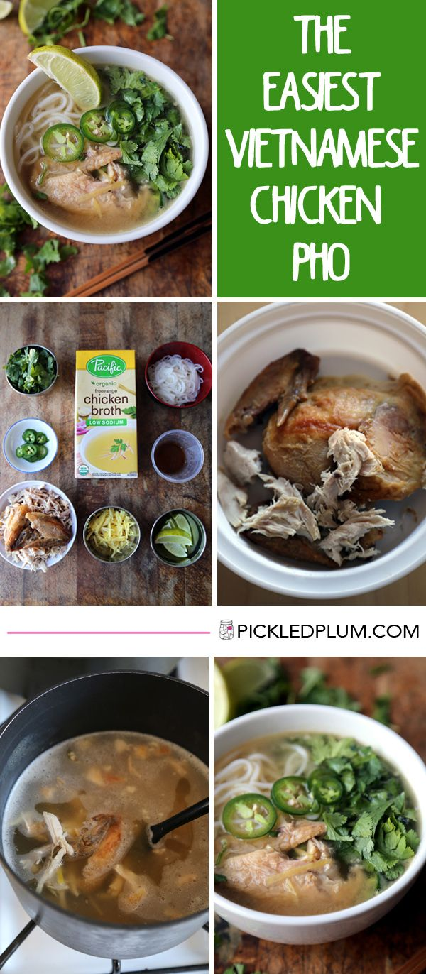 Food and Drinks - Easy Vietnamese Chicken Pho Noodle Soup recipe made with rotisserie chicken! Only 20 minutes to make from start to finish!