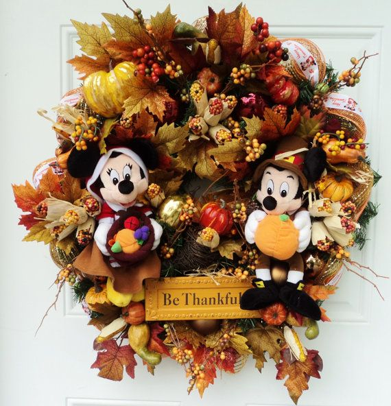 Disney Thanksgiving Wreath Mickey and by SparkleForYourCastle,