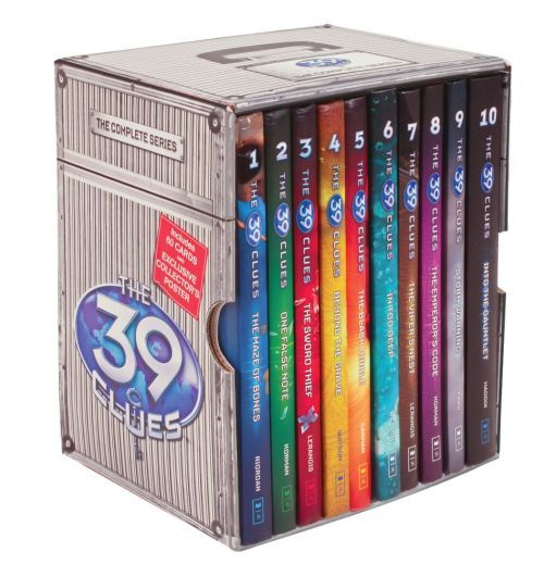 The 39 Clues. My third-favorite series. Absolutely amazing. Cahills vs. Vespers is good, but the original series is better, in my opinion. My favorites are the black circle  and Into the Gauntlet.