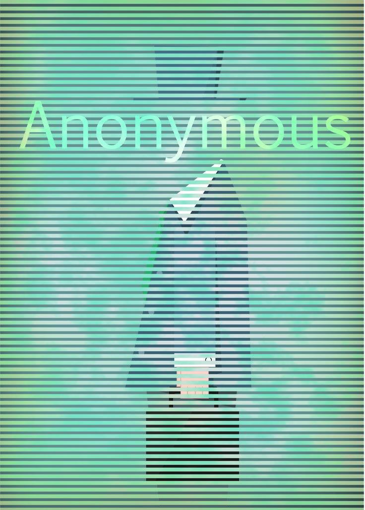 匿名者_關於網路匿名效應的海報作品