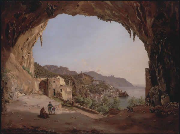 Spunto per diorama : Amalfi dalla grotta del Convento dei Cappuccini