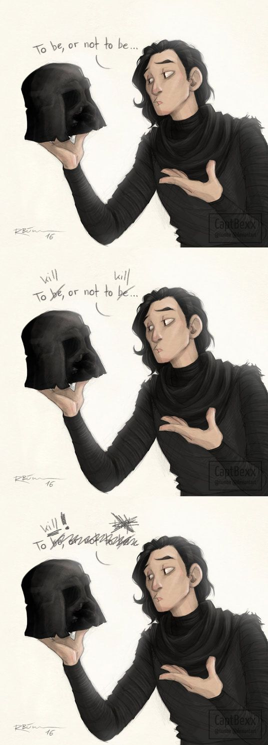 Star Wars: TFA    That's it, I'm going full-blown Draco in Leather Pants (http://tvtropes.org/pmwiki/pmwiki.php/Main/DracoInLeatherPants) with Kylo Ren.