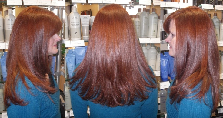 Gorgeous Rich Auburn Color Using Wella Color Hair At