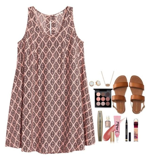 """""""Really like this dress.:)"""" by simply-makayla ❤ liked on Polyvore featuring Kendra Scott, H&M, Essie, L'Oréal Paris, Too Faced Cosmetics, Yves Saint Laurent, Maybelline, MAC Cosmetics and Aéropostale"""