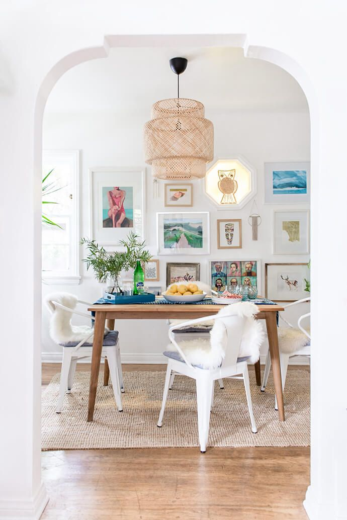 white metal café chairs - Carley Rudd photography for @glitterguide  home tour