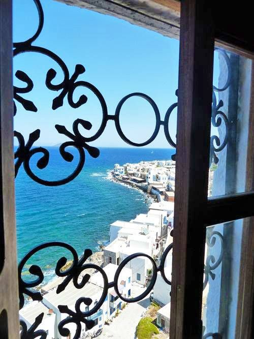 Window in Nissyros , Greece