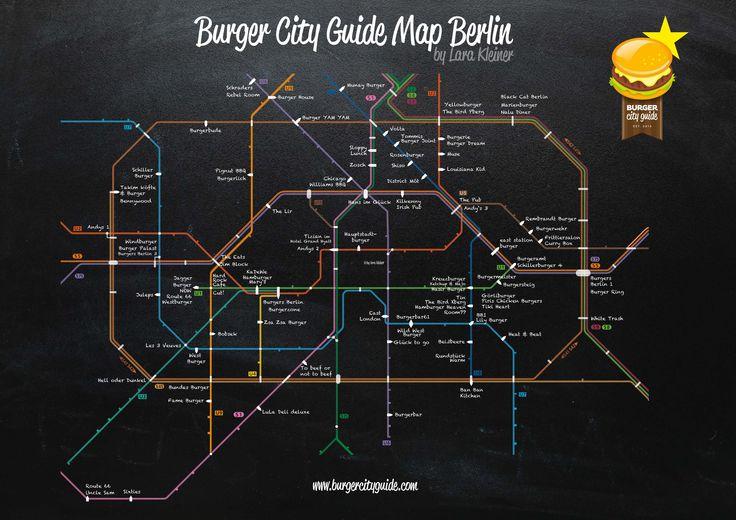 Burger City Guide - Burger S- und U-Bahn Netz Berlin