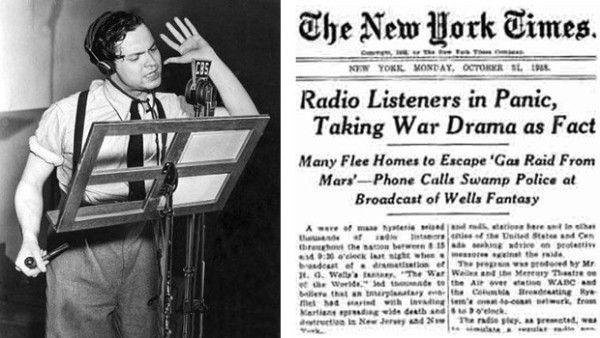 Mekkora pánikot okozott Orson Welles rádiójátéka? A valóságban inkább a lapok fújták túl a darab hatását.