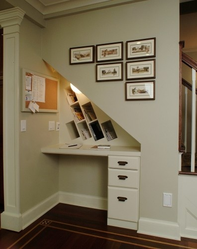 Lighting Basement Washroom Stairs: Great Idea For Under Stairs Space