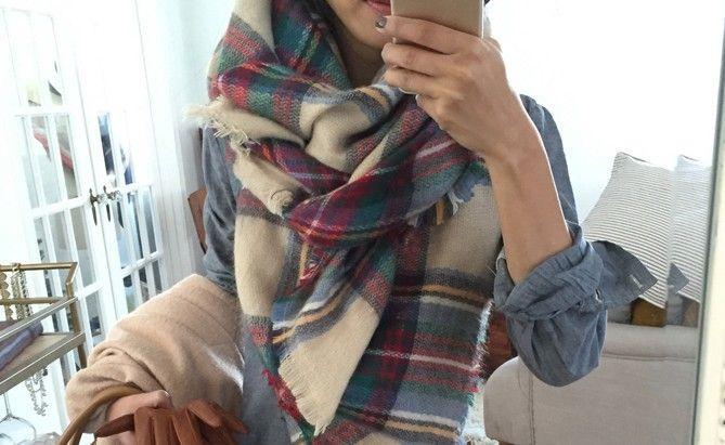 Stijlinspiratie: 6 makkelijk manieren om een oversized sjaal te knopen