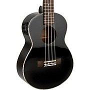 Lanikai All Mahogany Acoustic-Electric Concert Ukulele Gloss Black