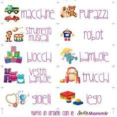 giocattoli in ordine