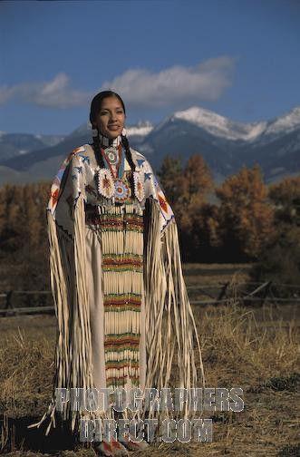 Shoshone Beadwork | ... Traditional Lemhi Shoshone woman , Summer Ba stock photo pd1802719.jpg