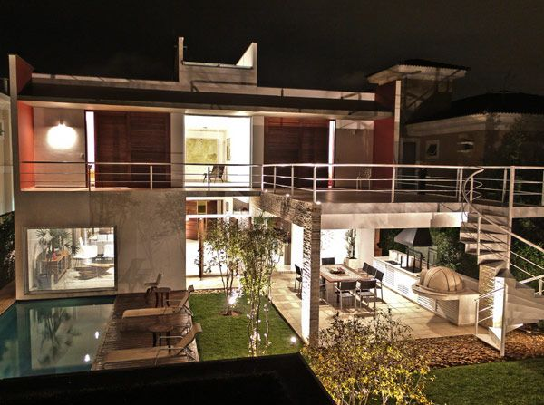 """Modern Residence in Brazil Outlined by Structure Symmetry: Pernambuco Area , We recently received photos and information of a project developed by Flavio Castro and located in Guarujá, Sao Paulo, Brazil.Here is the official project description: """"No frontiers between the connected environments grouped by function are the major f , Admin ,..."""