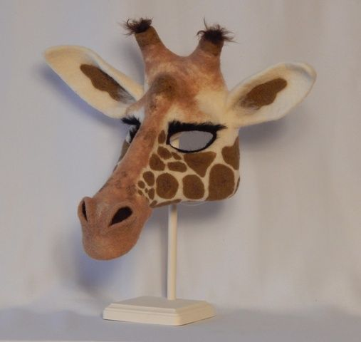 A Needle Felted Giraffe Mask From The Book Quot Needle Felting