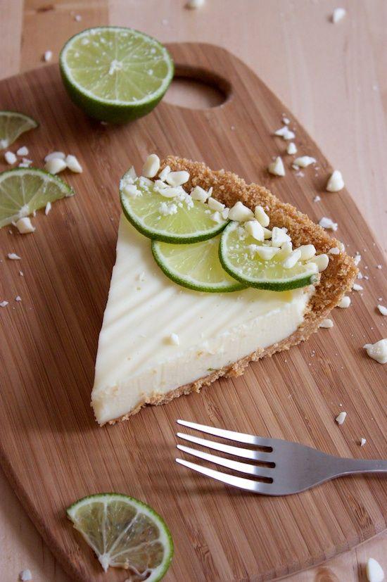 white chocolate key lime pie