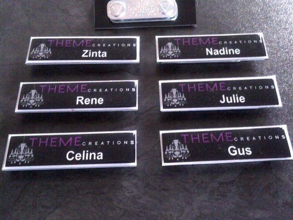 Name badges by TVS Concept Design , via Behance