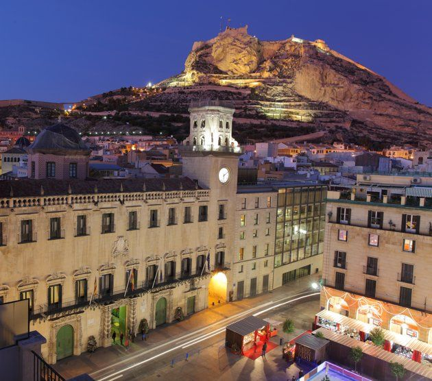 Alicante, Spain - Ayuntamiento & Castillo de Santa Barbara. My backyard while living there.