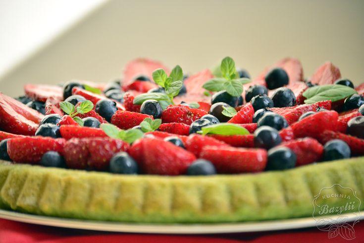 Tarta szpinakowo-truskawkowa