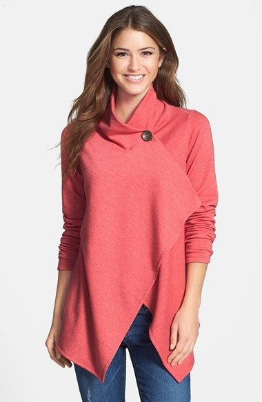 Bobeau One-Button Wrap Cardigan (Regular & Petite) available at #Nordstrom
