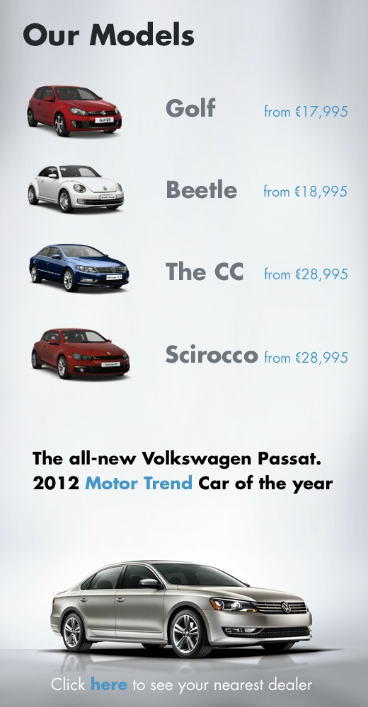 Volkswagen models by Simply Zesty.