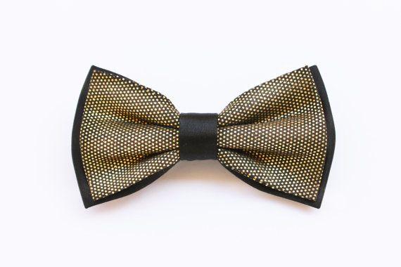 Papillon oro e nero, farfallino per uomo, accessori matrimoni in oro,matrimonio primavera estate 2017,papillon oro per sposo stile elegante