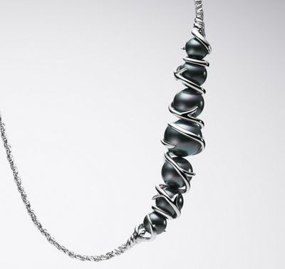 never seen black pearls designed like this!