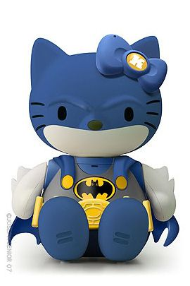 batman hello kitty batman hellokitty blue gray yellow