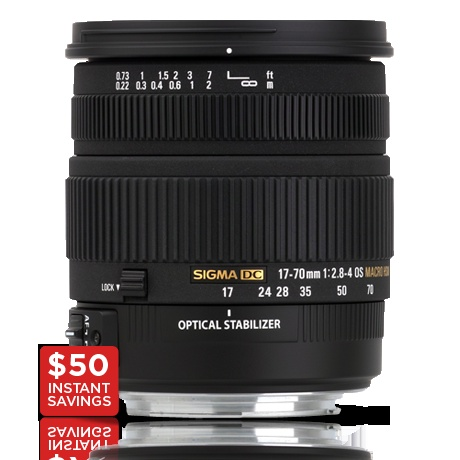 Sigma   17-70mm F2.8-4 DC Macro OS HSM  (Google for better pricing)